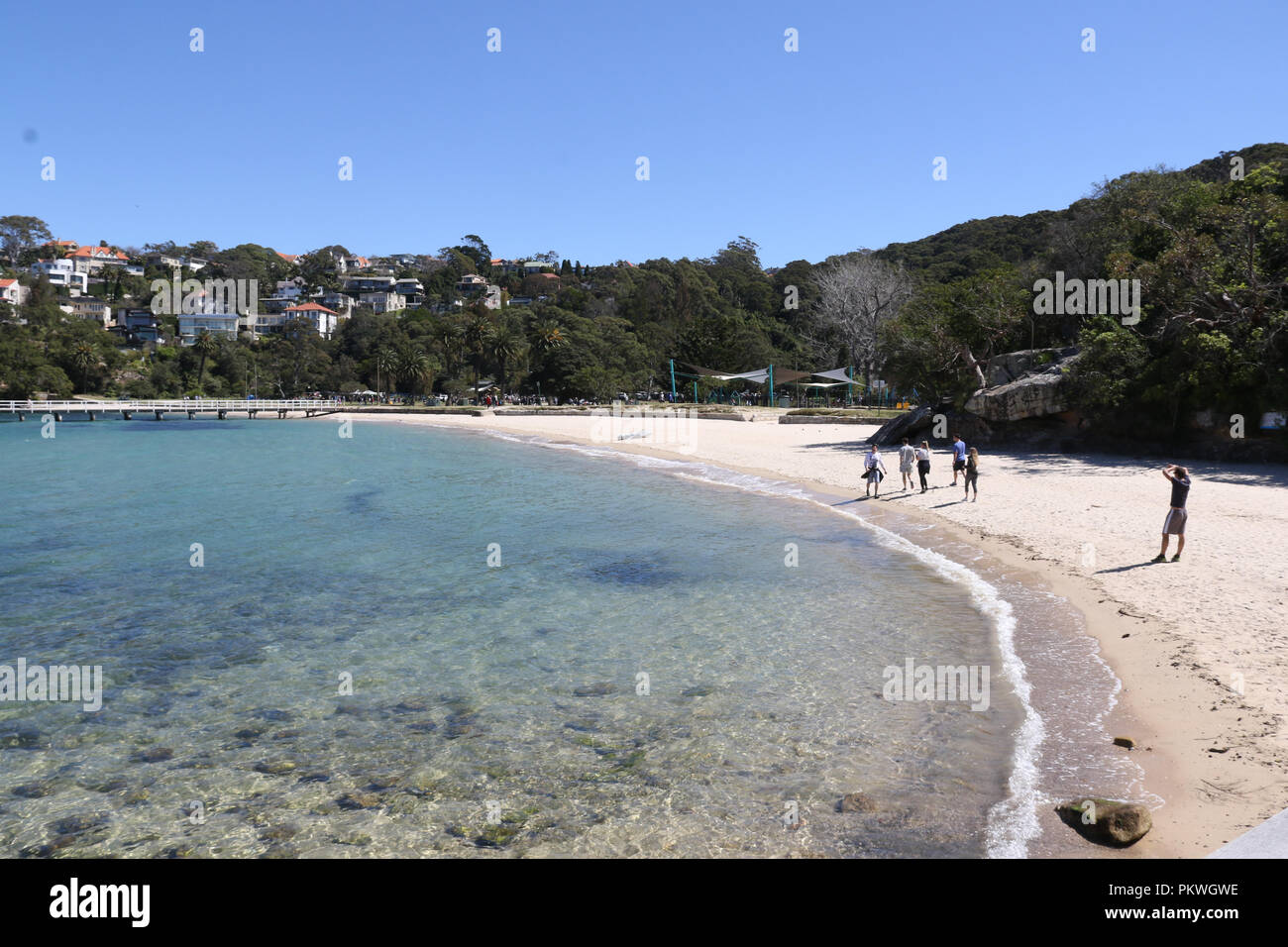 The beach at Clifton Gardens Reserve, Mosman on Sydney's lower north shore. - Stock Image