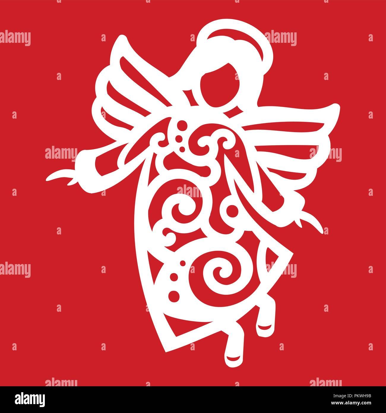 Christmas Angel Drawing Stock Photos & Christmas Angel Drawing Stock ...