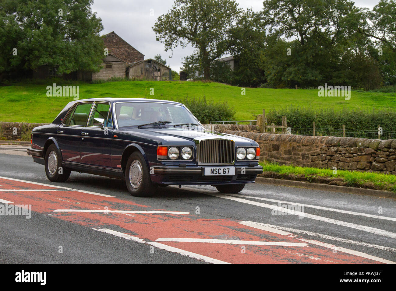 1990 Bentley Bentley Others Classic, vintage, veteran, cars of yesteryear, restored collectibles at Hoghton Tower Class Cars Rally, UK - Stock Image