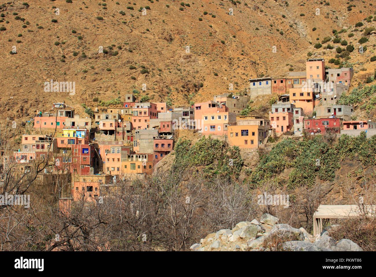 Panoramic View of Setti Fatma - Morocco Stock Photo