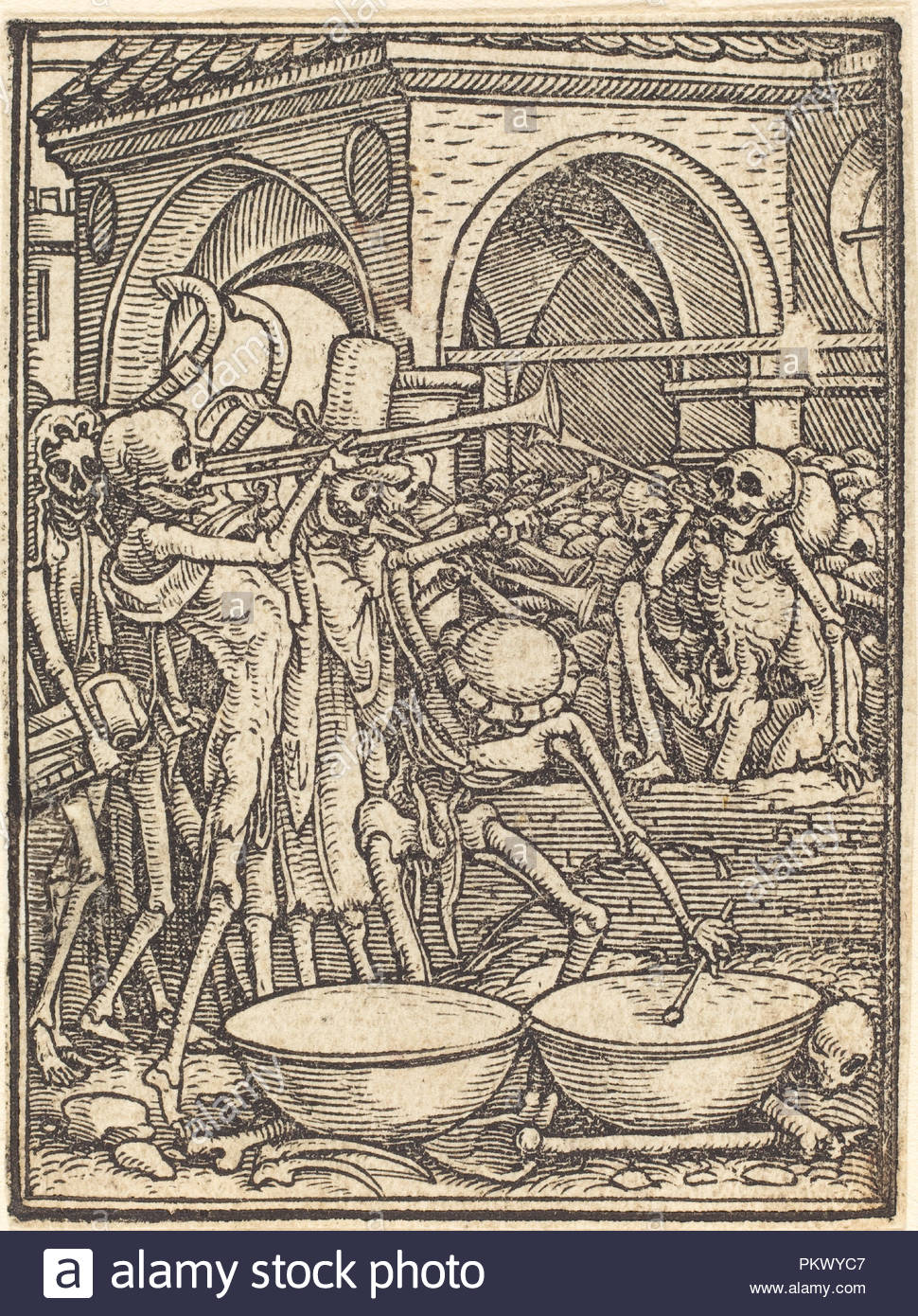 End of Mankind. Medium: woodcut. Museum: National Gallery of Art, Washington DC. Author: Hans Holbein the Younger. - Stock Image