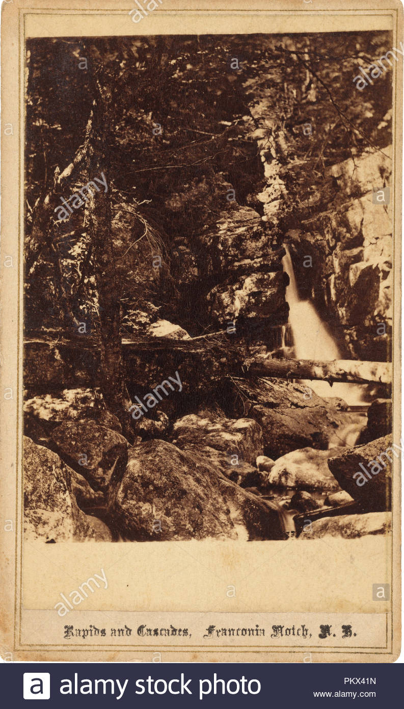 Rapids And Cascades Franconia Notch New Hampshire Dated 1860s Dimensions