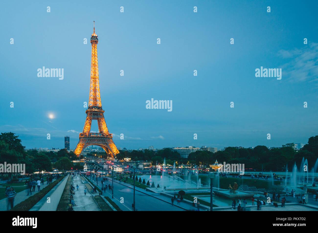 Eiffel Tower at Trocadero - Stock Image