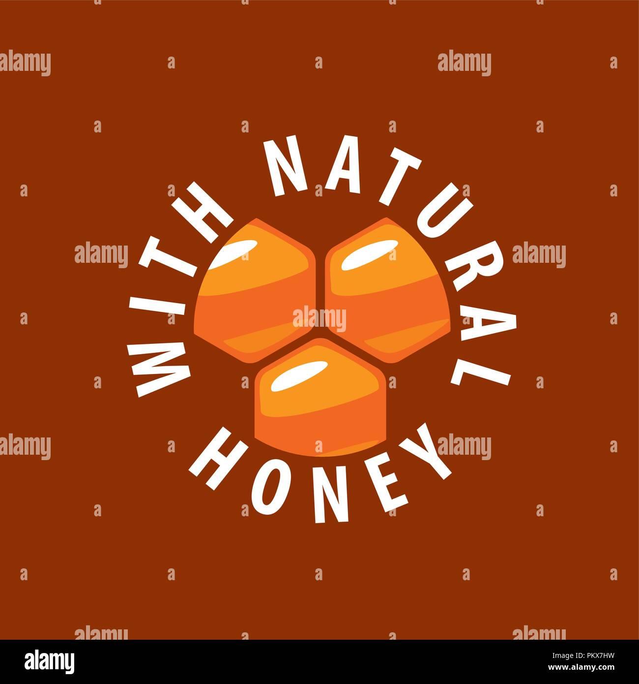 vector honey logo - Stock Image
