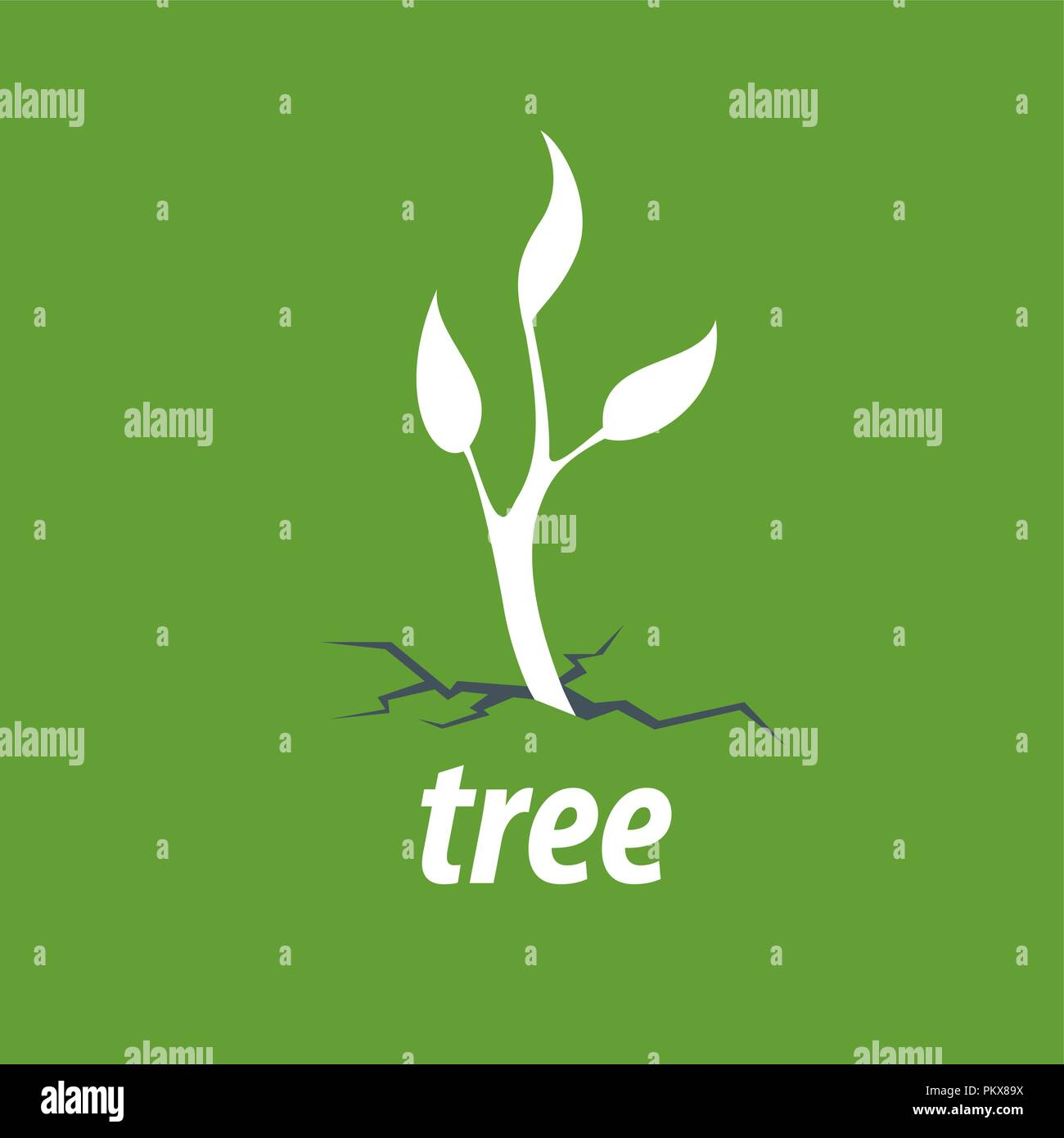 vector logo tree - Stock Vector