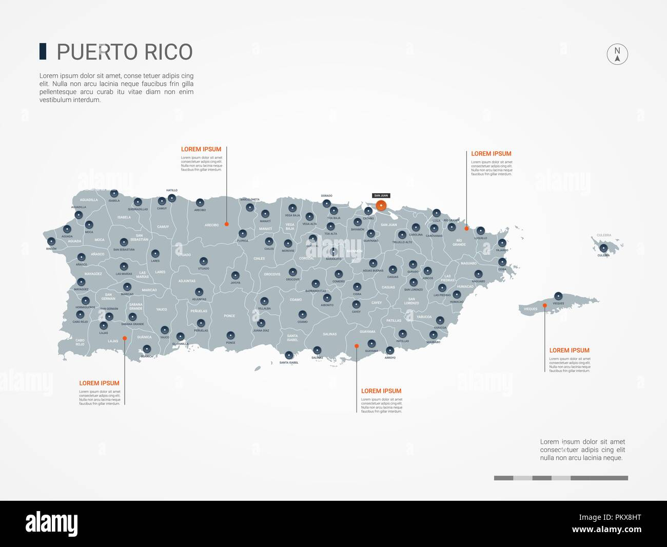 Puerto Rico Map Stock Vector Images - Alamy