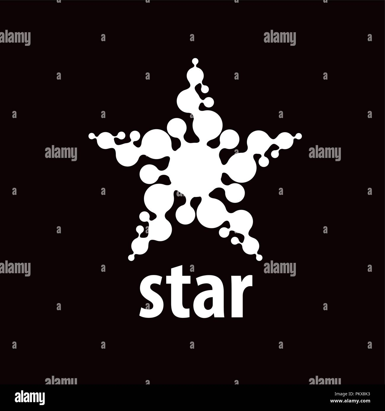 vector logo star - Stock Image