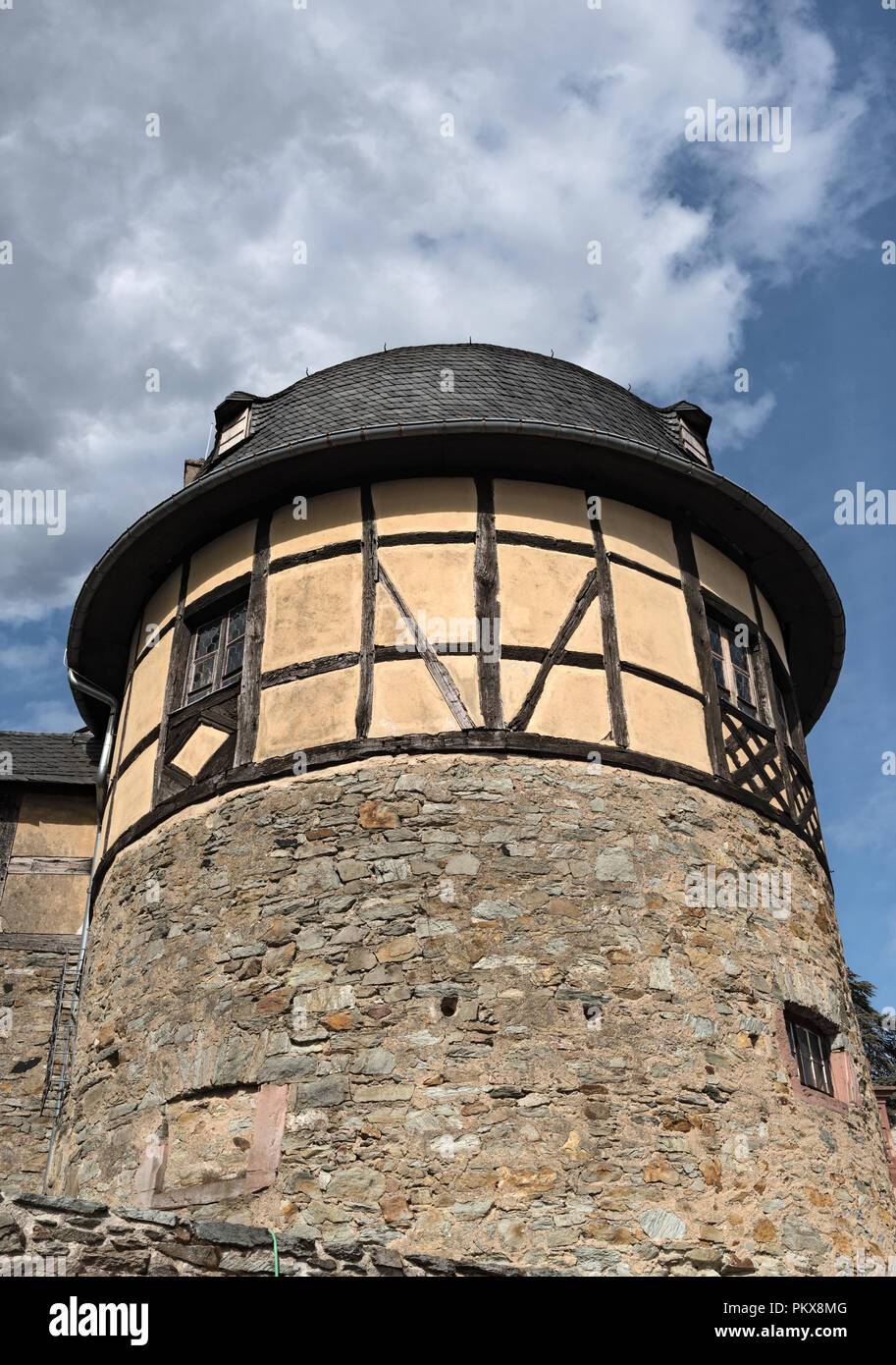High Middle Ages Rock castle in Kronberg im Taunus, Hesse, Germany. - Stock Image