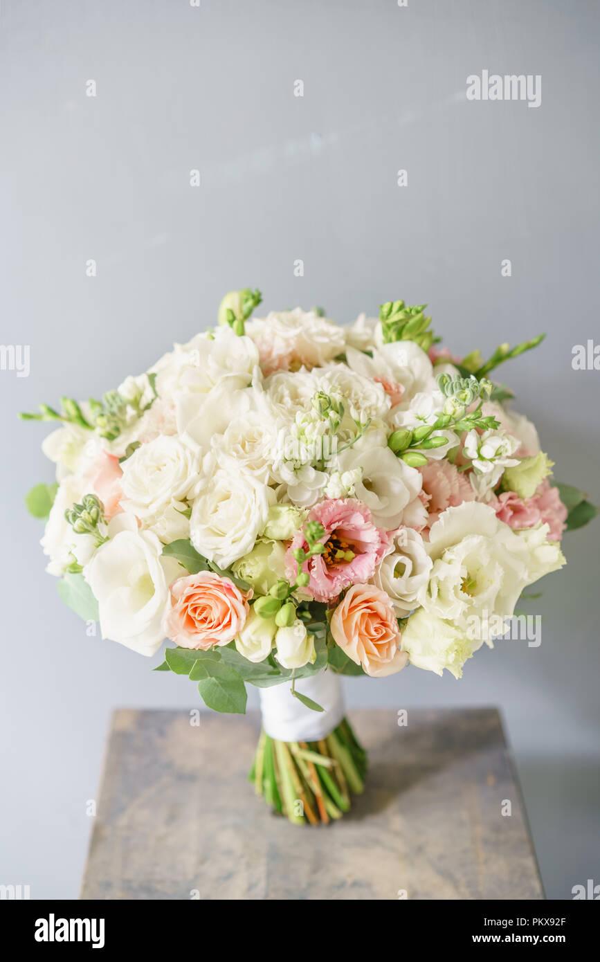 Beautiful spring wedding bouquet flower arrangement with white beautiful spring wedding bouquet flower arrangement with white flowers izmirmasajfo