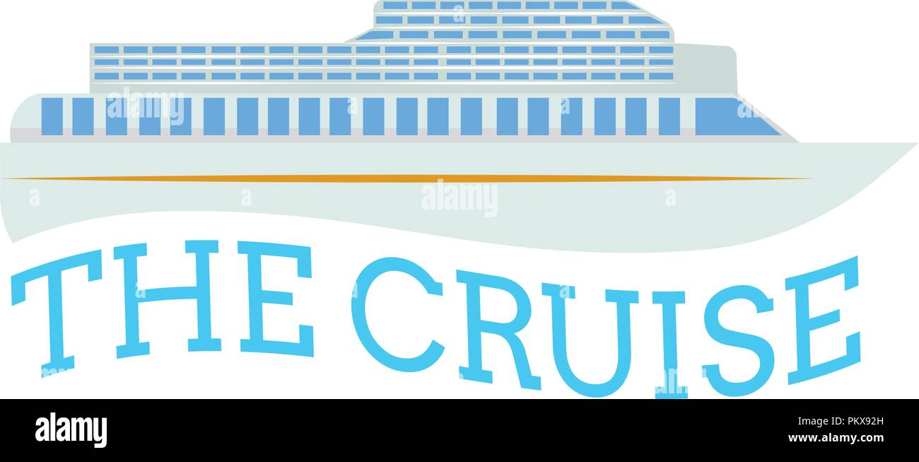 Vacation cruise with text - Stock Vector