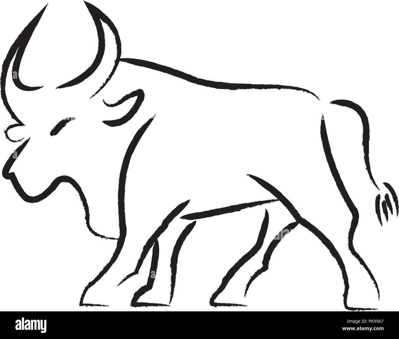 bull draw illustration stock photos bull draw illustration stock