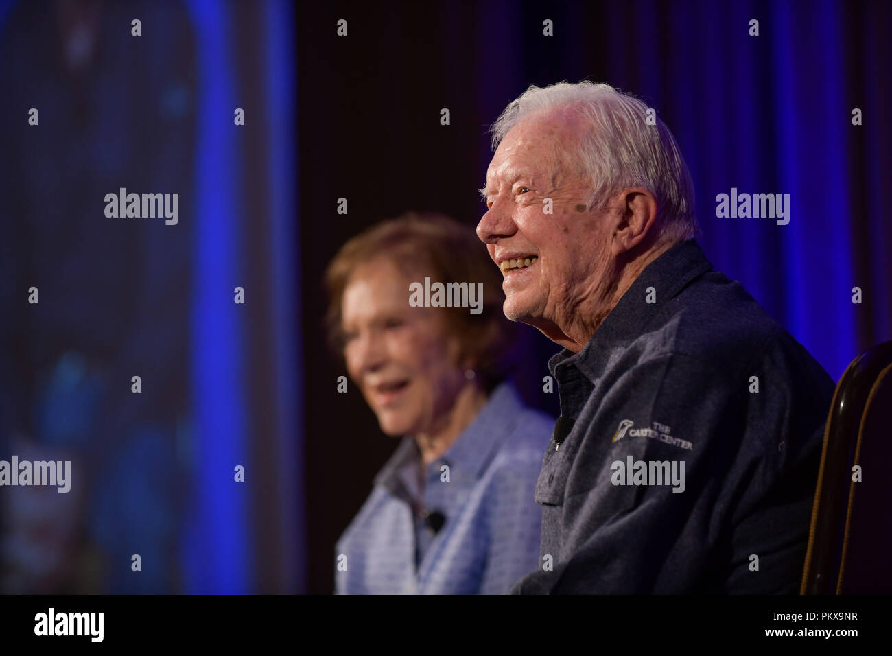 Jimmy and Rosalynn Carter at the 2018 Carter Center's Carter Center Weekend  at Washington's Skamania Lodge in the Columbia Gorge Stock Photo