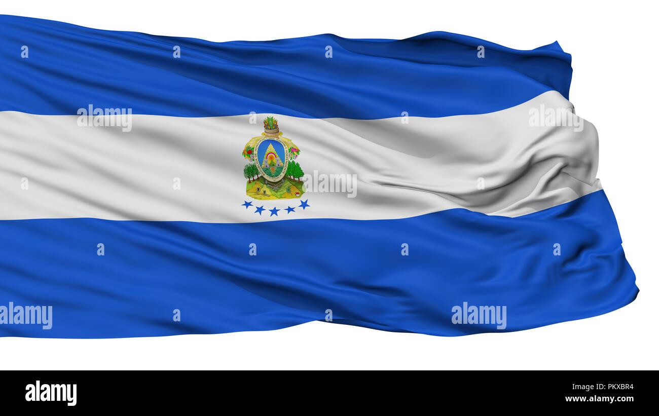 Honduras Naval Ensign Flag, Isolated On White Background, 3D Rendering Stock Photo