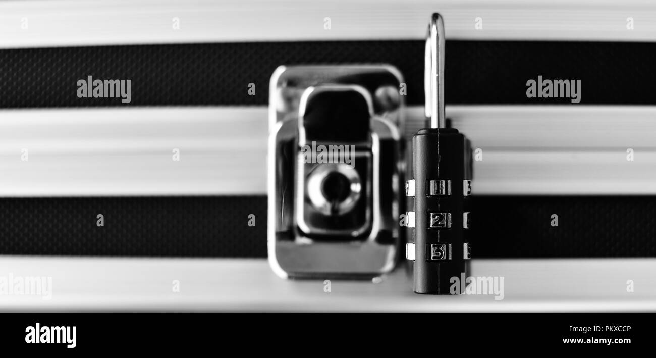 Security - Black and White Close-Up - Stock Image