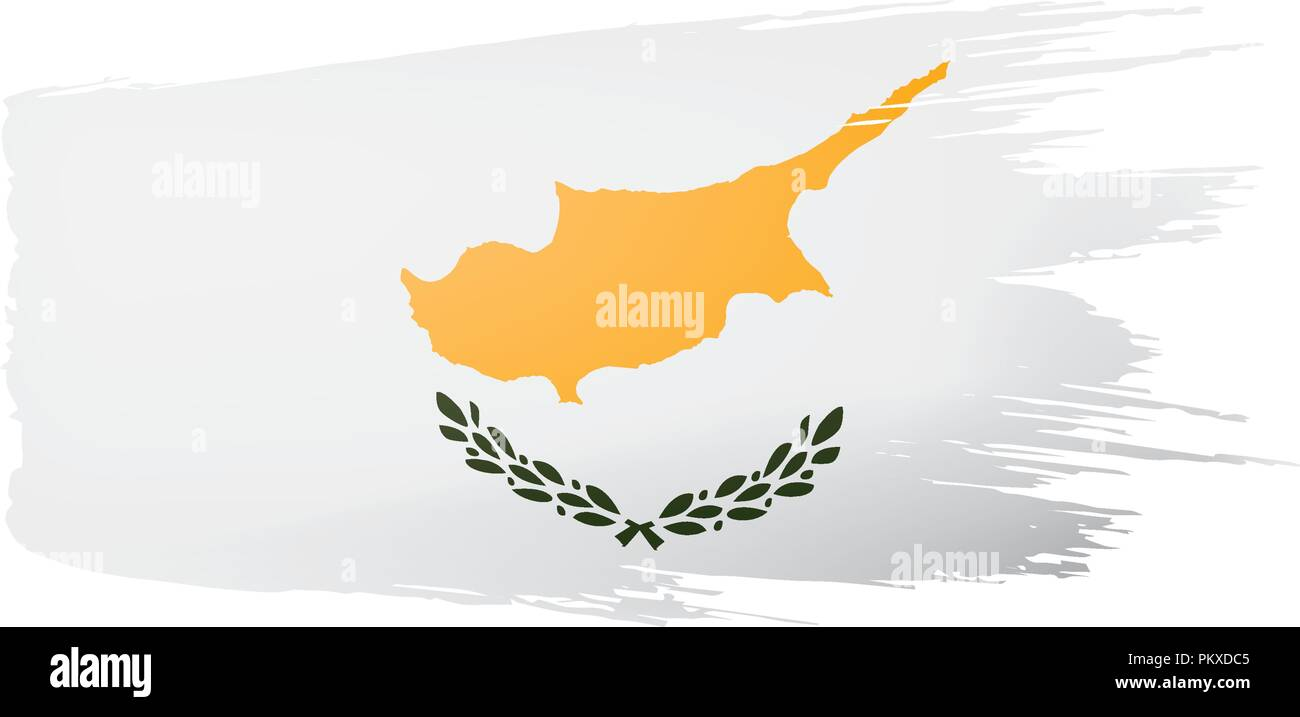 Cyprus flag, vector illustration on a white background. - Stock Image