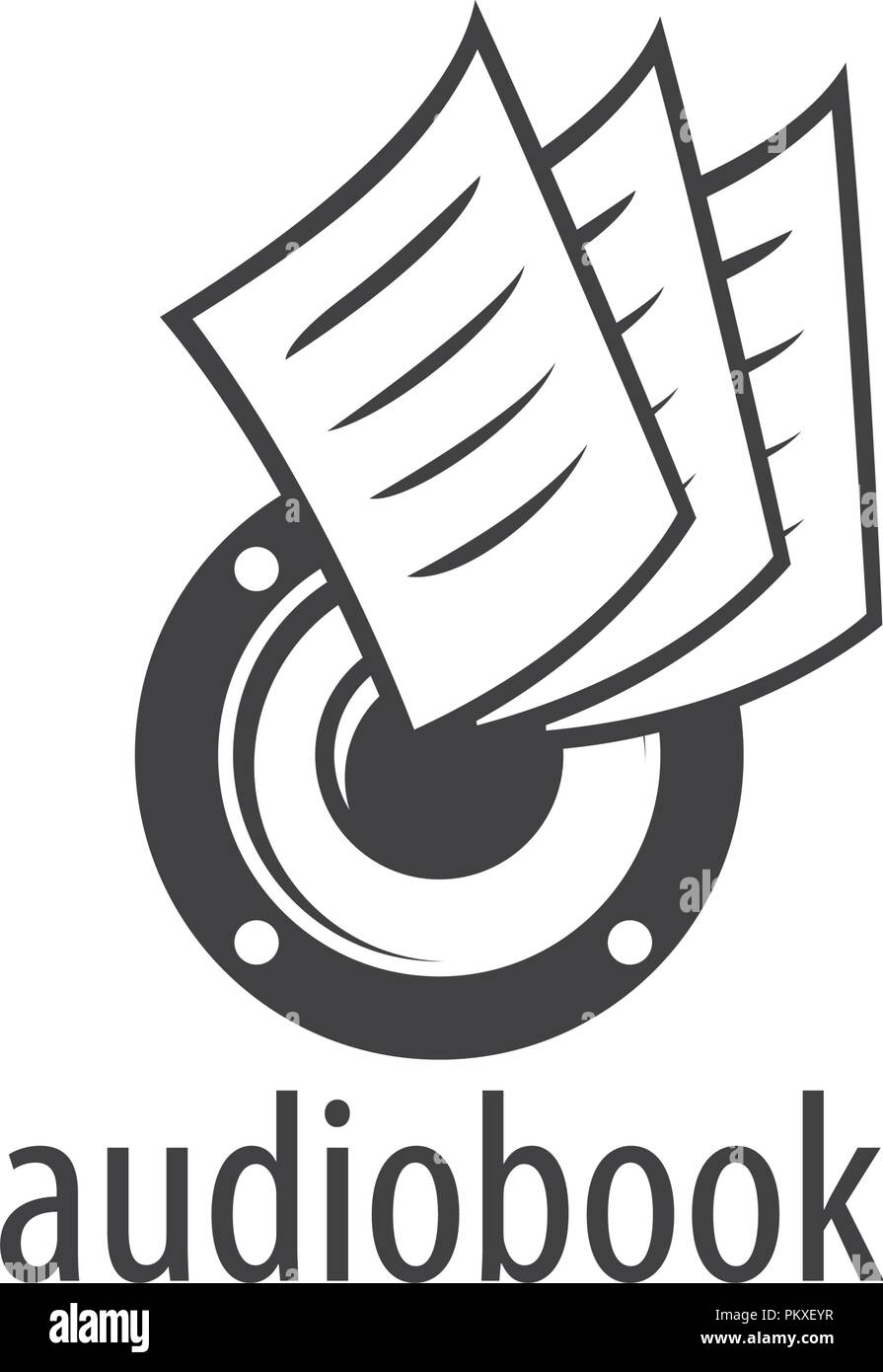 audiobook vector logo template stock vector art illustration