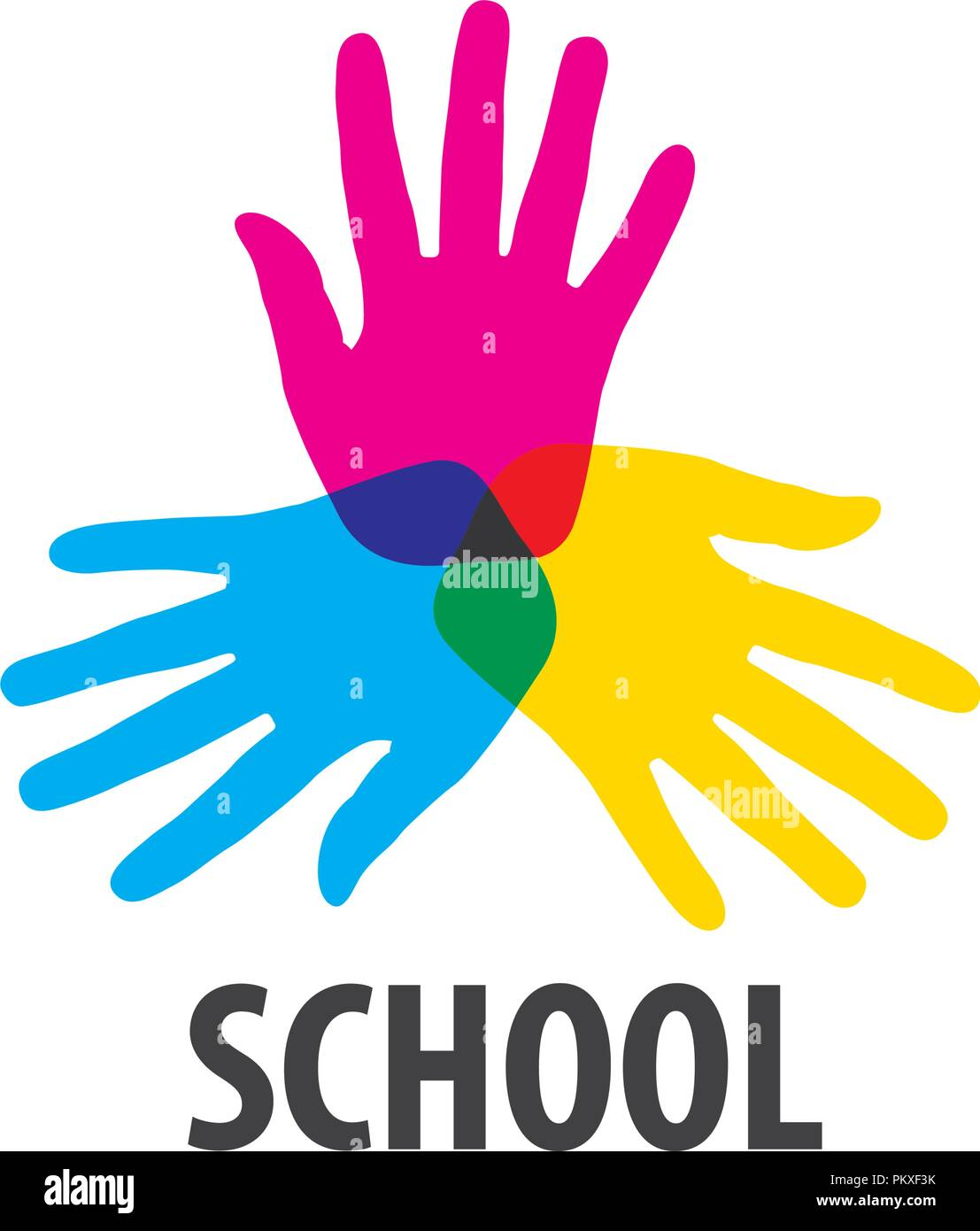 vector logo School - Stock Image