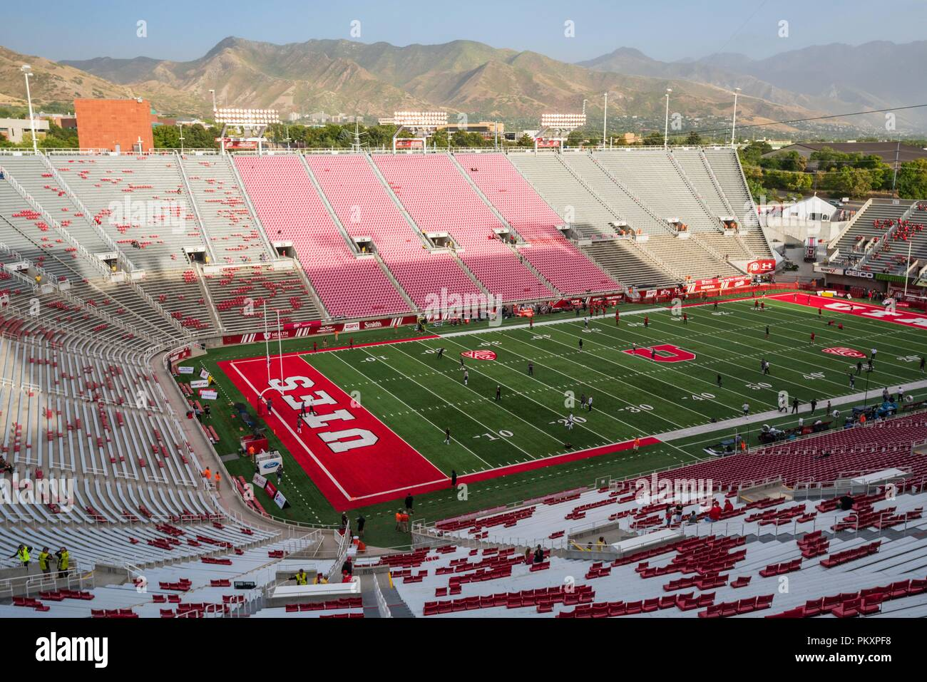 Salt Lake City Usa 15th Sept 2018 Rice Eccles Stadium Before The