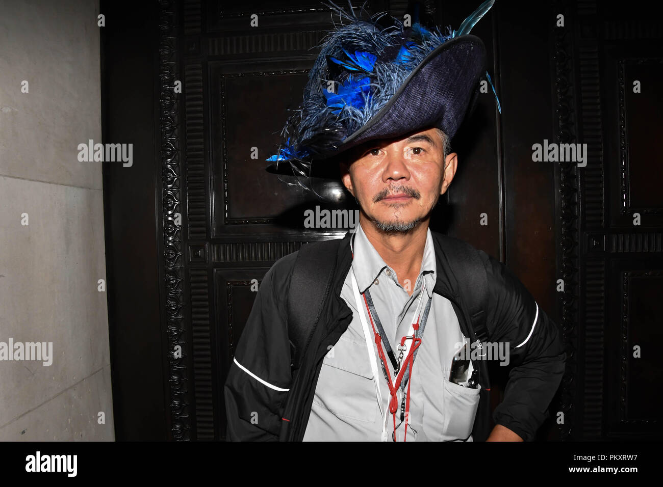 fb8808c724f2df 15th September 2018. See the hat man from 'Picture Capital' modelling for  the Hats Designer Carollee Emery of Brazen Canary photoshoot at Fashion  Scout ...