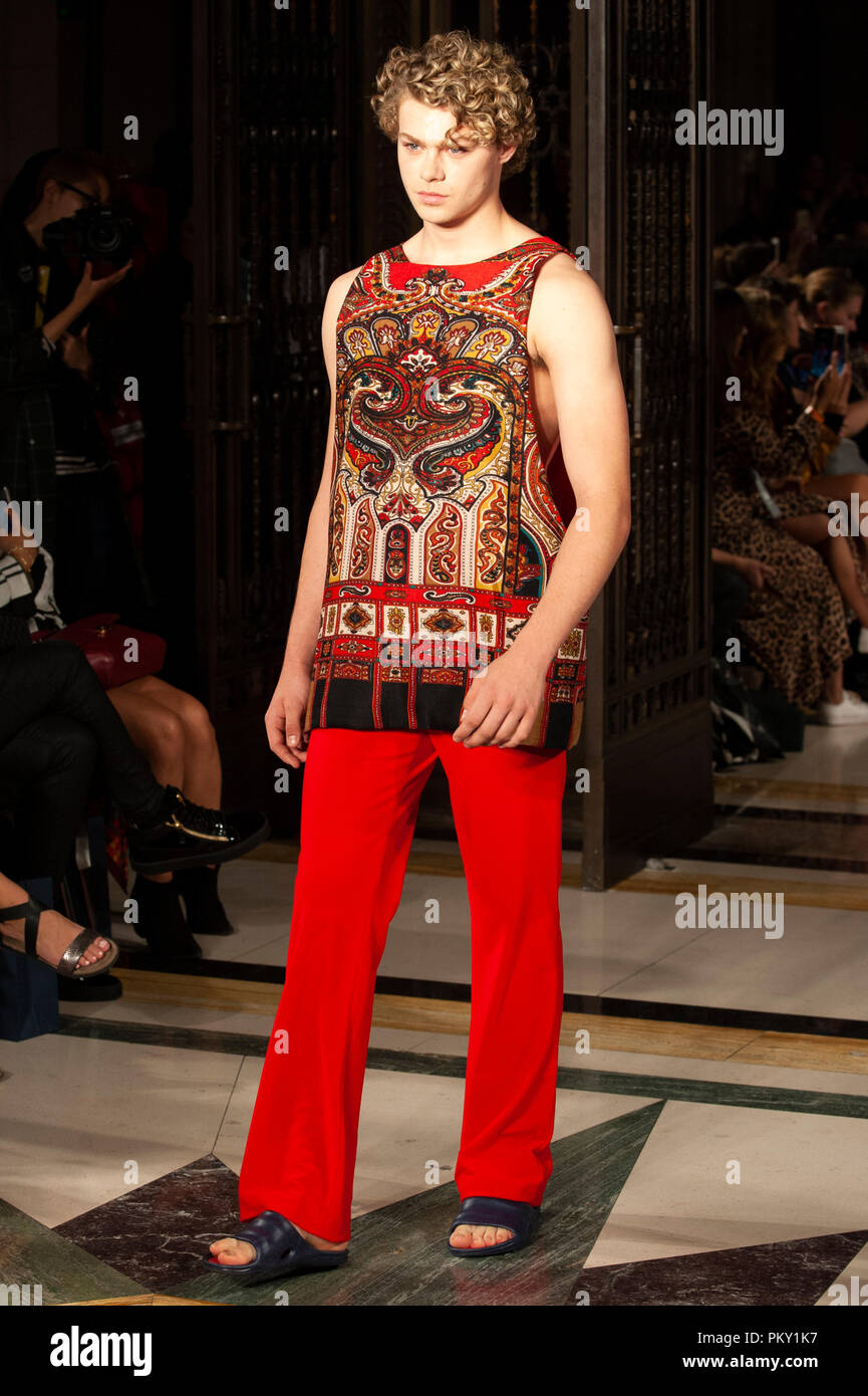 29aa334017e Czech designer Jiri Kalfar returned to London Fashion Week with a new  collection at Fashion Scout SS19