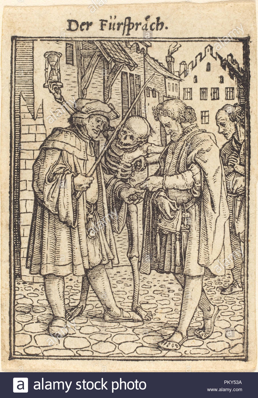 Lawyer. Medium: woodcut. Museum: National Gallery of Art, Washington DC. Author: Hans Holbein the Younger. - Stock Image