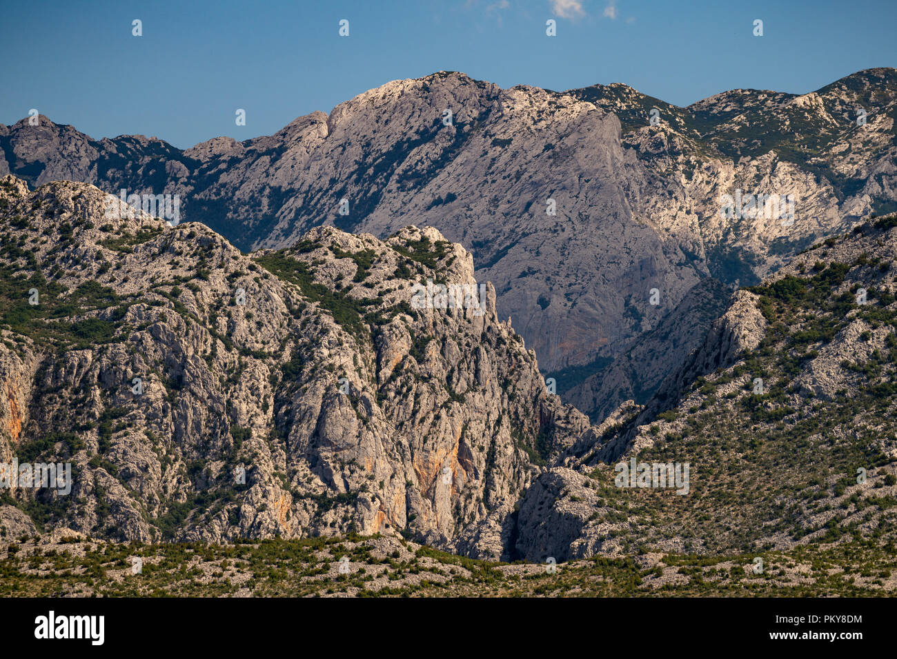 Extreme mountains in Paklenica National Park, Velebit, Croatia Stock Photo