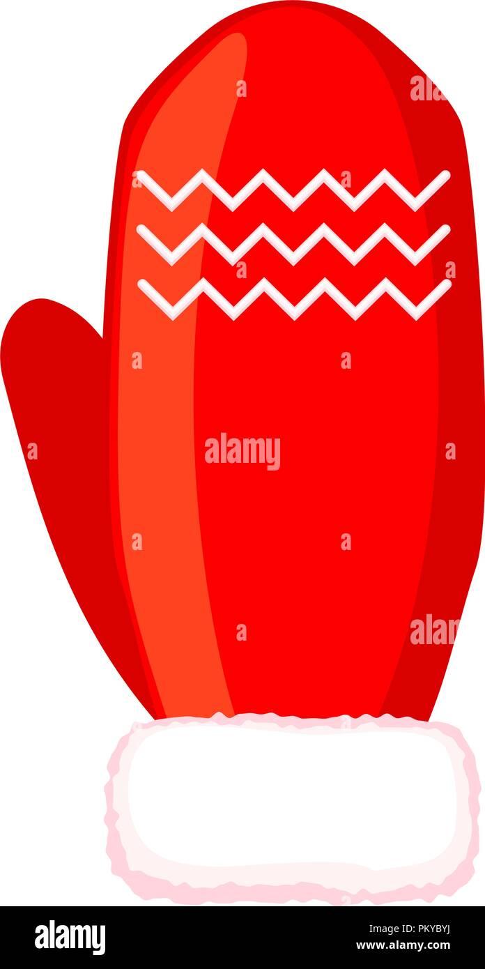 Colorful cartoon winter glove - Stock Vector