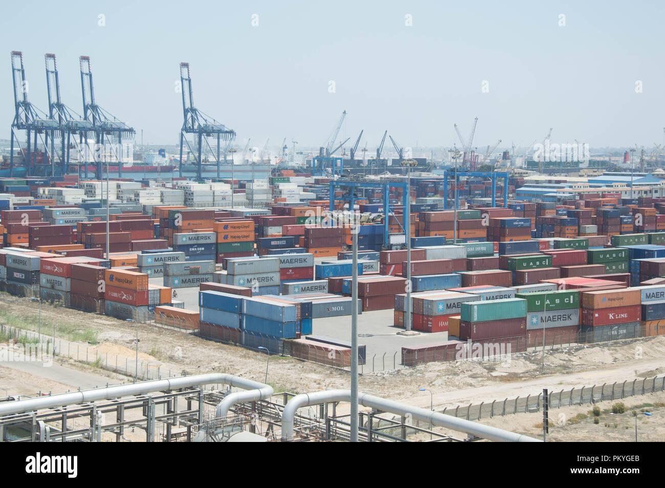 the damietta container port operated by the damietta port authority rh alamy com