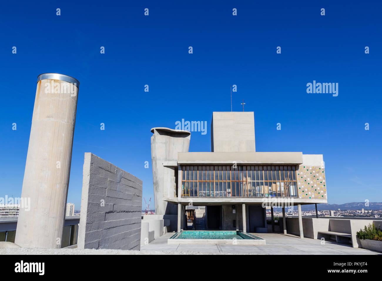 Le Corbusier Unite D Habitation cité radieuse, unite d' habitation, roof terrace (le