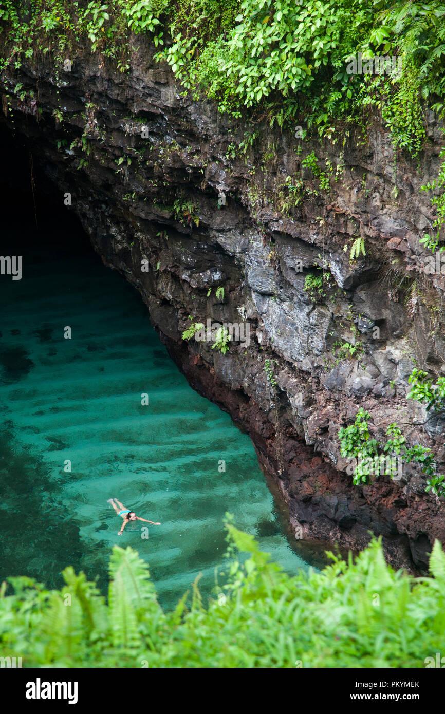 To Sua Ocean Trench, Upolu Island, Samoa. - Stock Image