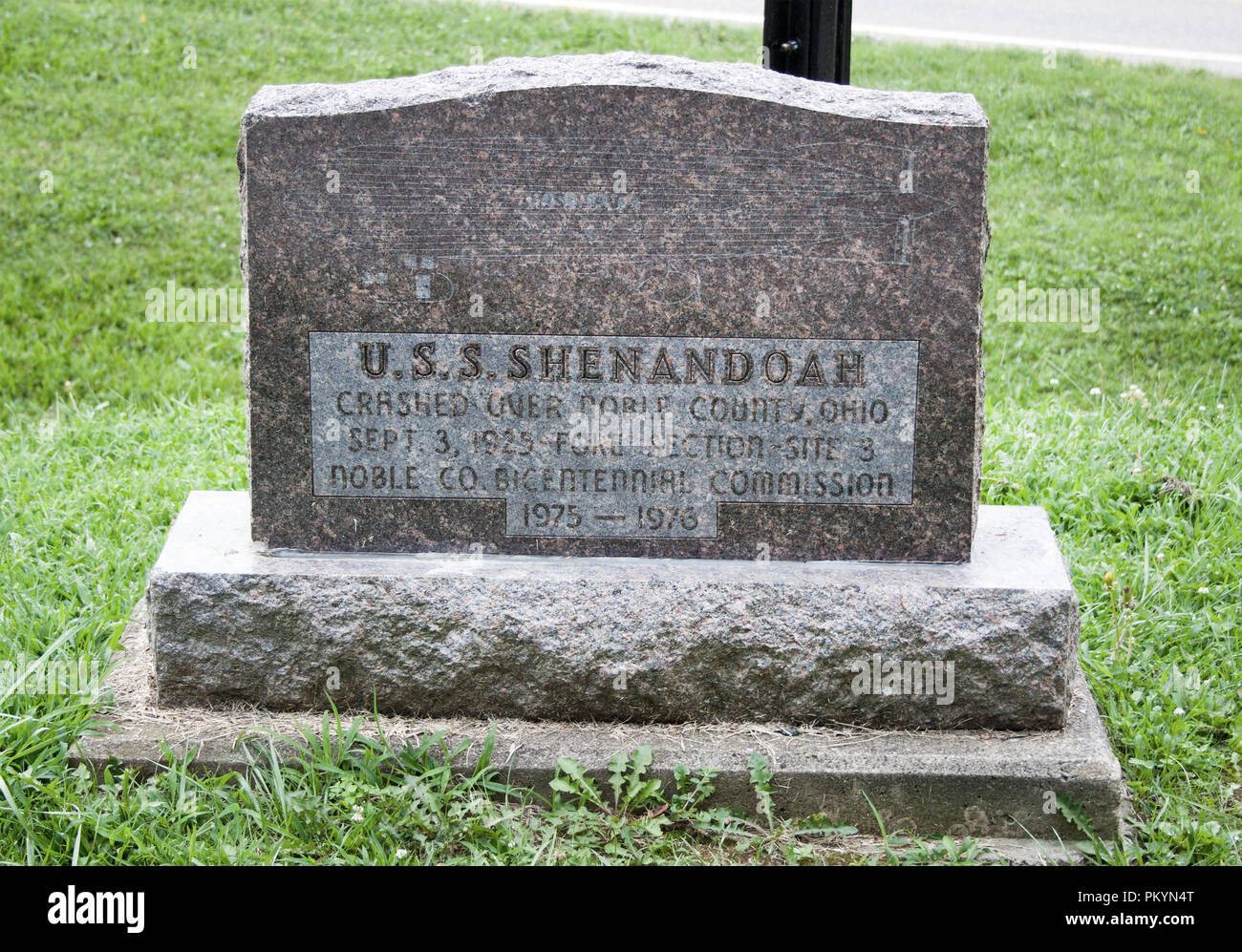 U.S. Navy Shenandoah Air Disaster in Ava Ohio - Stock Image