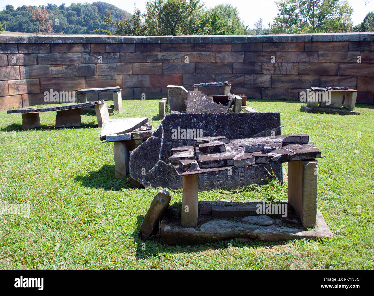 President's Half Acre Stonewall Cemetery in Lancaster Ohio - Stock Image
