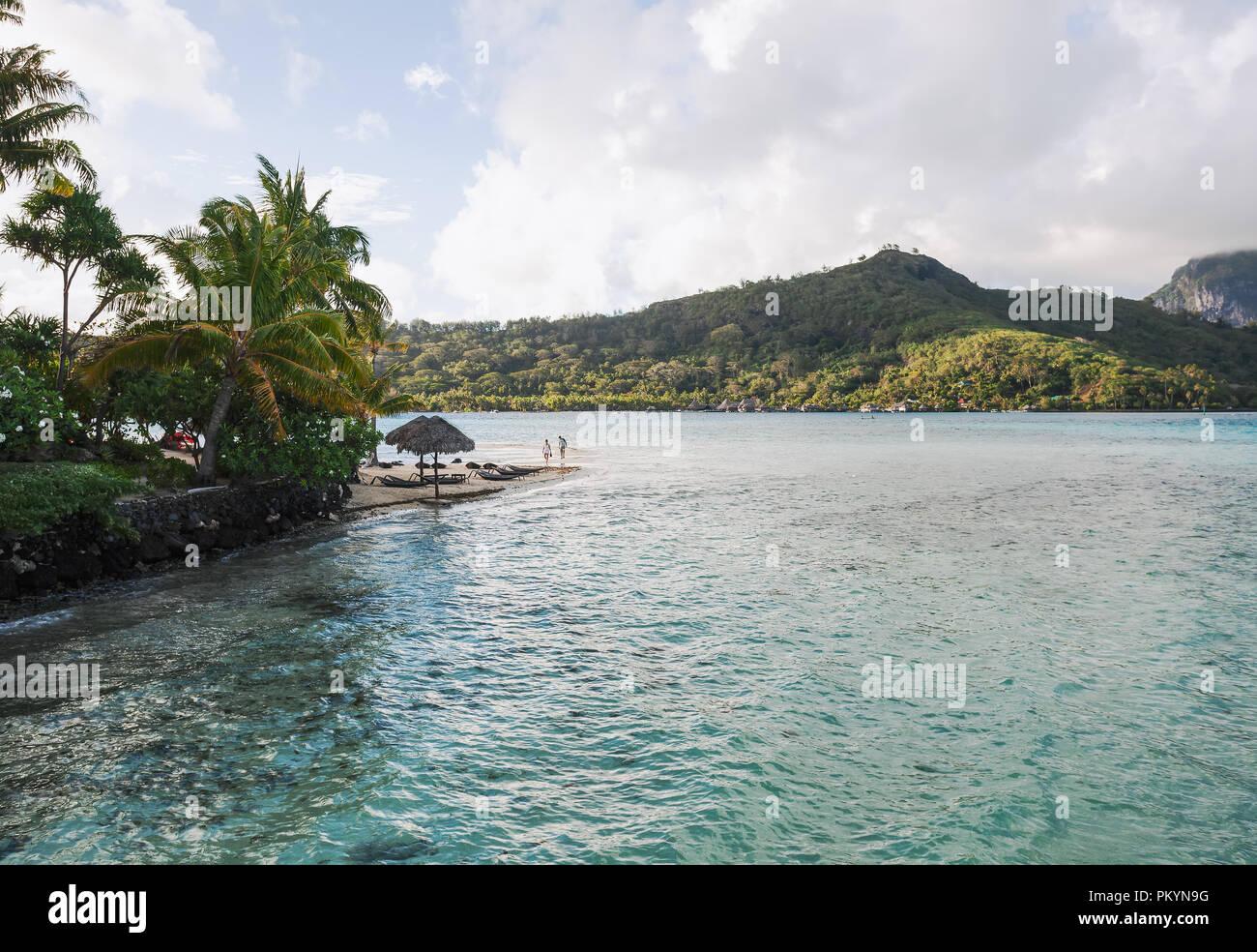 Holiday scene from Bora Bora, French Polynesia - Stock Image