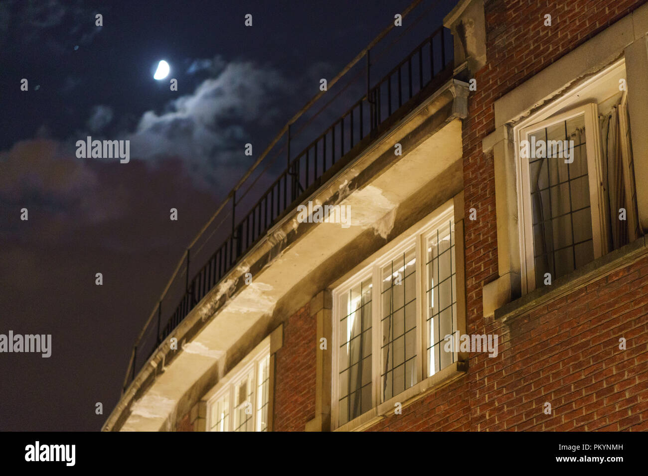 The moon over the city - Stock Image