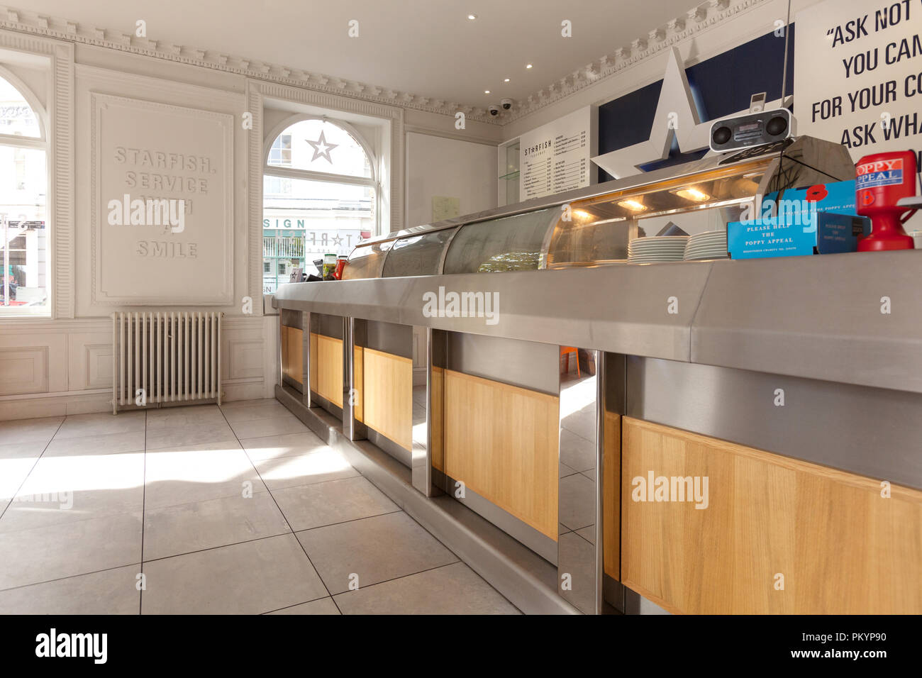 Fish And Chip Shop Counter High Resolution Stock Photography And Images Alamy