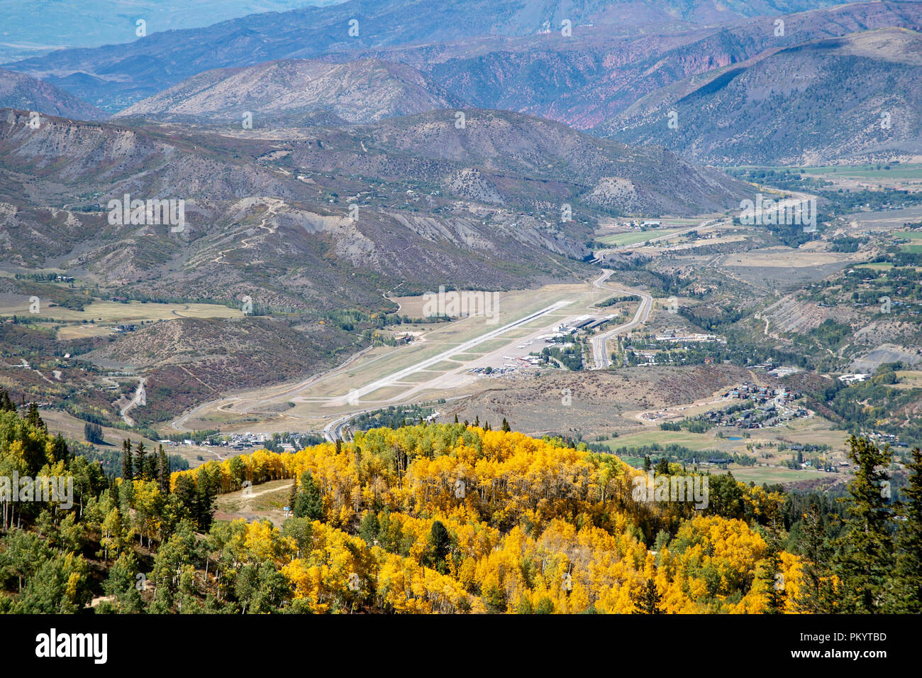 Aspen Airport in Colorado, USA - Stock Image
