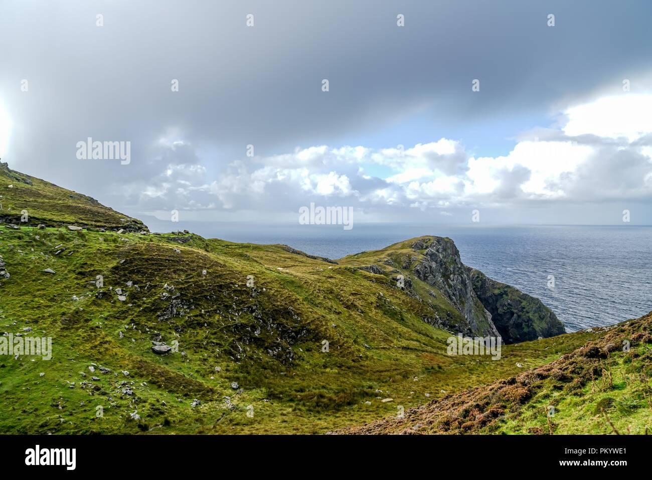 The amazing cliffs of Slieve League near Carrick Ireland. Stock Photo