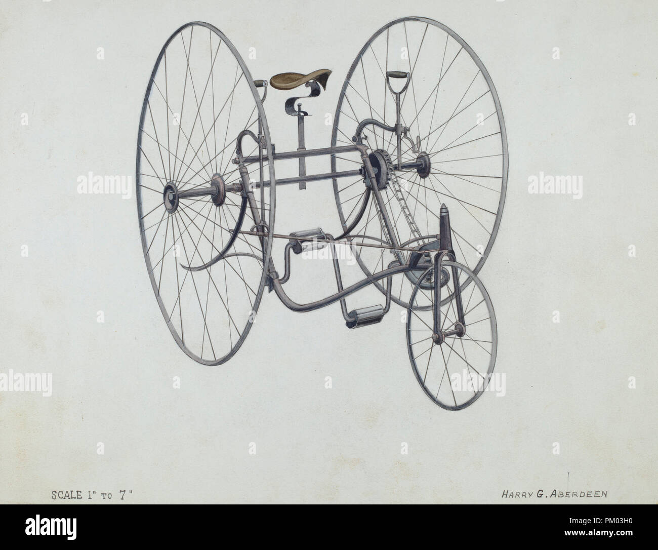 Bicycle. Dated: c. 1936. Dimensions: overall: 22.4 x 29 cm (8 13/16 ...