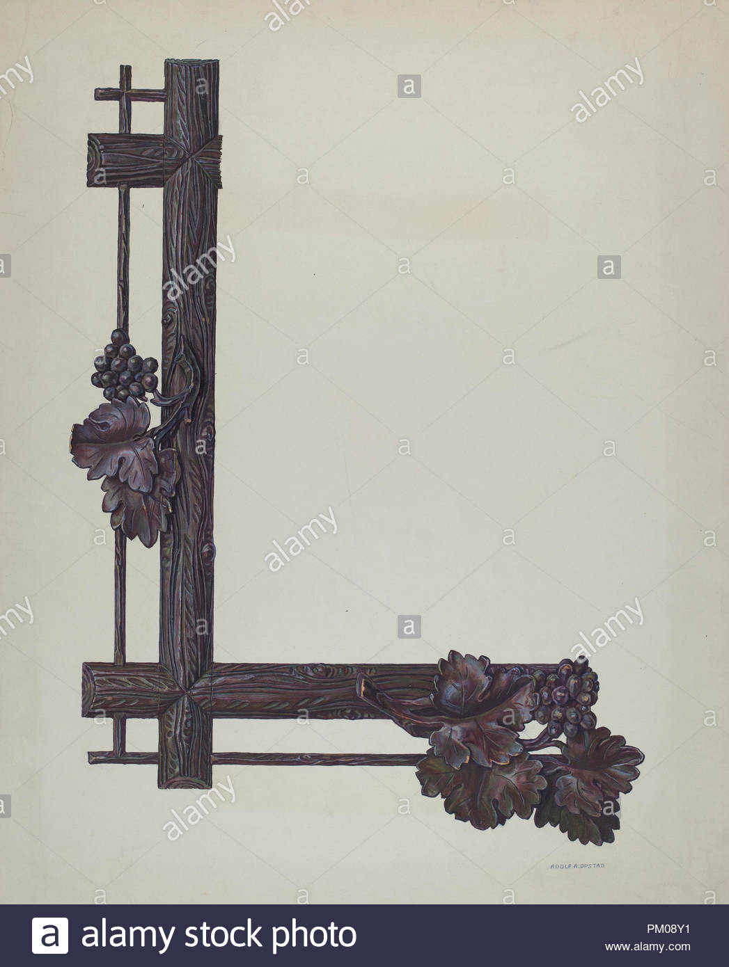 Carved Picture Frame. Dated: 1940/1941. Dimensions: overall: 56 x ...