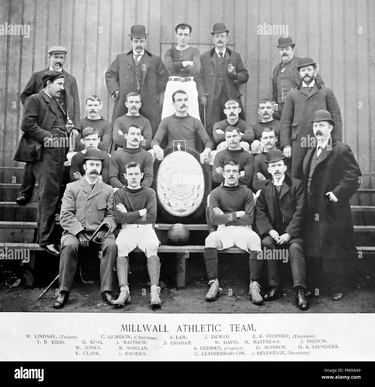 Millwall Athletic Football Team, 1890s - Stock Image