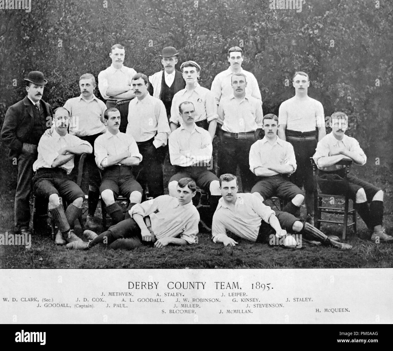 Derby County Football Team 1895 Stock Photo Alamy