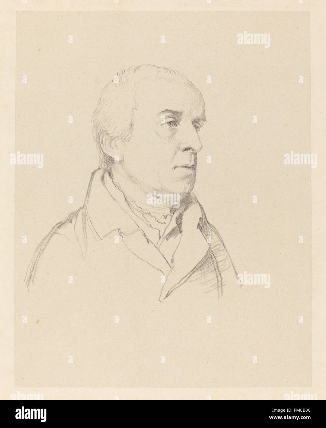 William Gunn. Medium: lithograph on papier colle. Museum: National Gallery of Art, Washington DC. Author: Richard James Lane after John Flaxman. - Stock Image