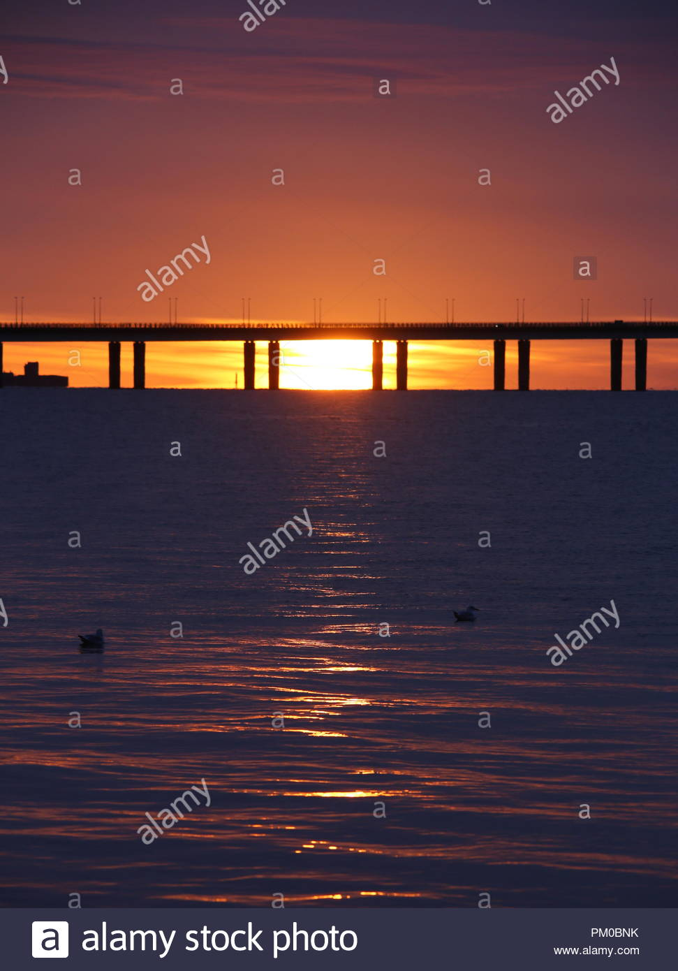 Tay Road Bridge at Sunrise Dundee Scotland  15th September 2018 - Stock Image