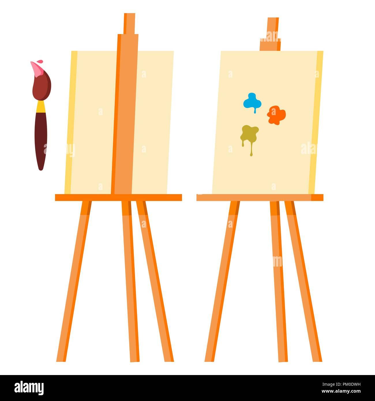 Painting Brush Palette Easel Stock Photos & Painting Brush Palette ...