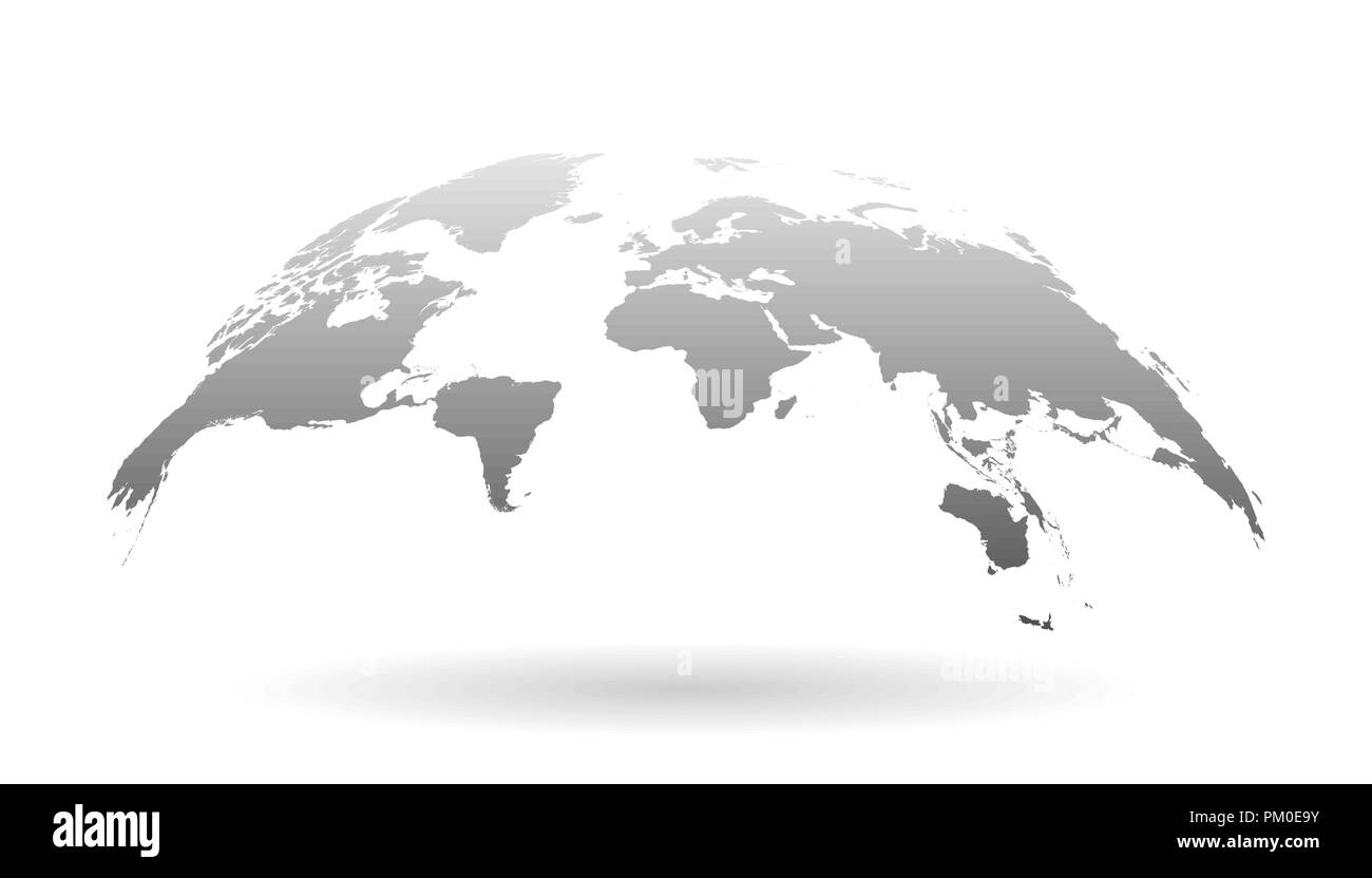 Flat World Map Vector.Earth Planet Icon In Flat Style 3d World Map Vector Illustration On