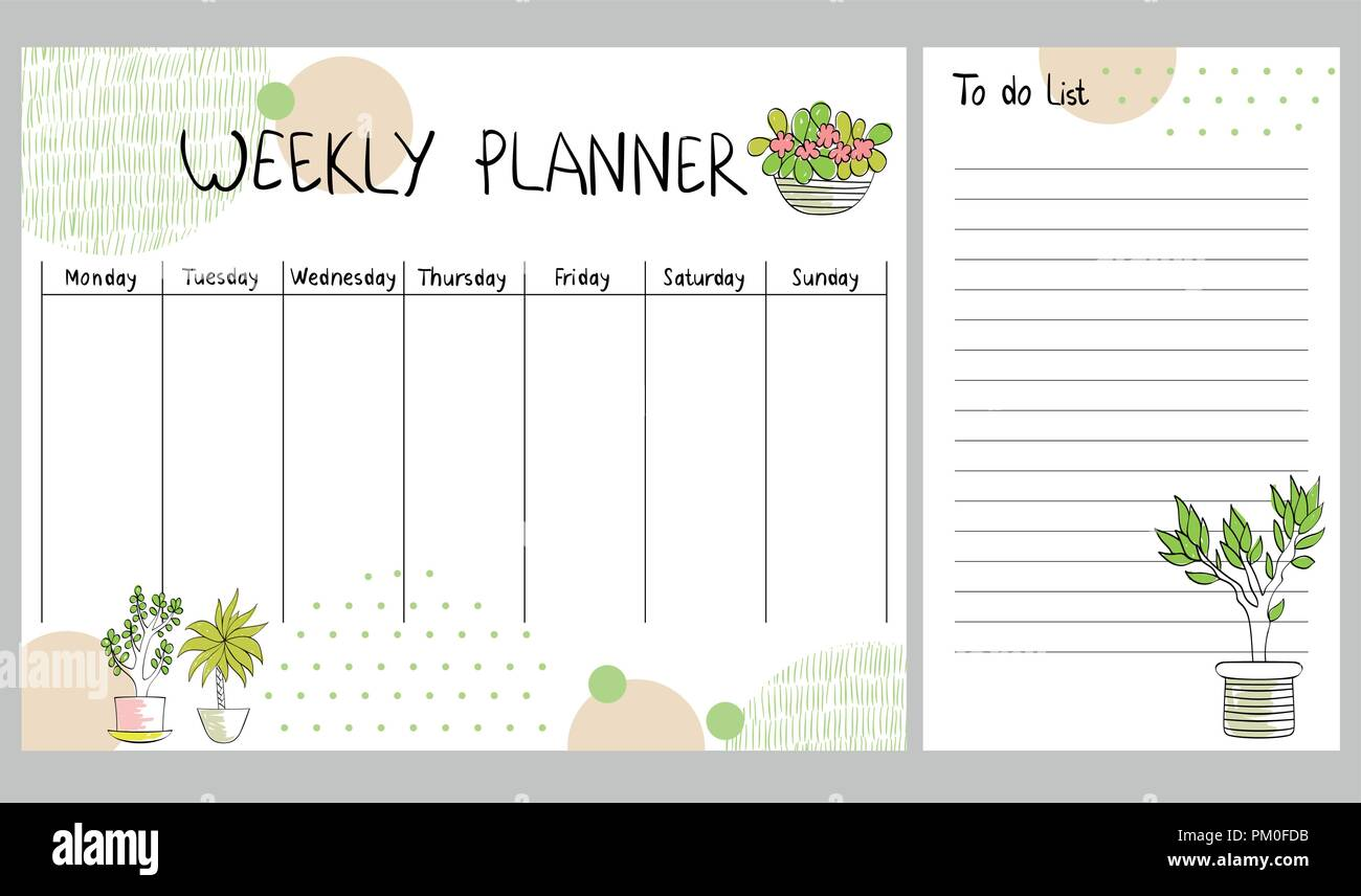 vector weekly planner stock vector art  u0026 illustration