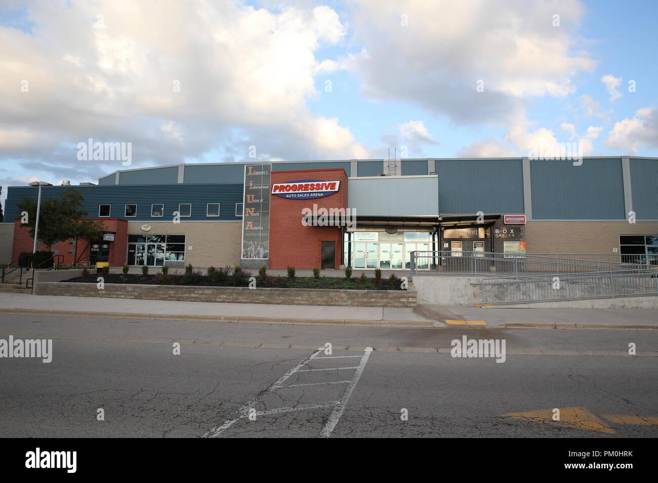 Sarnia Sting Arena -Progressive Auto Sales Arena - Lambton College - Stock Image