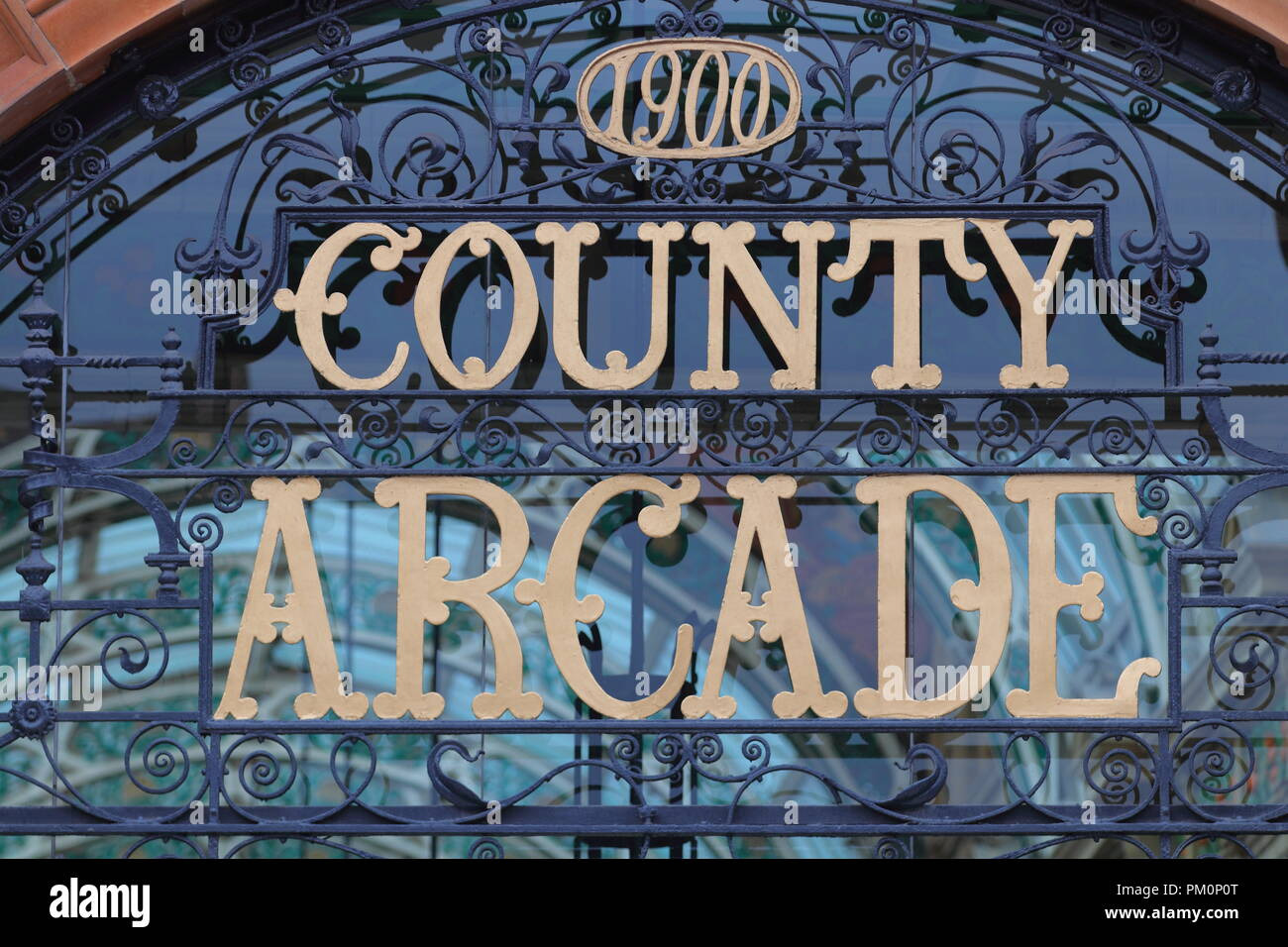 The exterior of Leeds County Arcade - Stock Image
