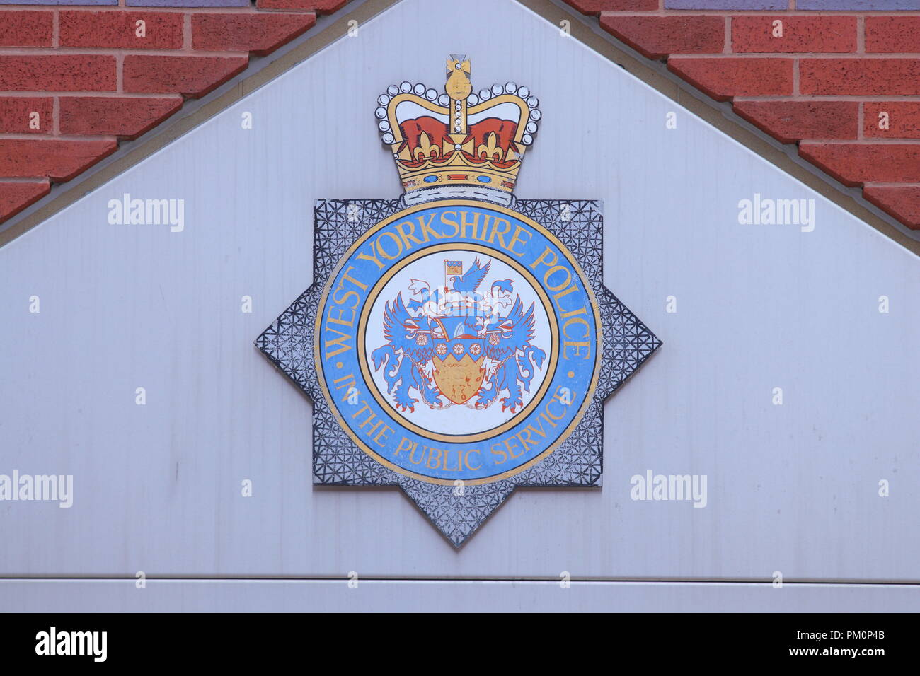 The entrance to Leeds Central Police Station - Stock Image