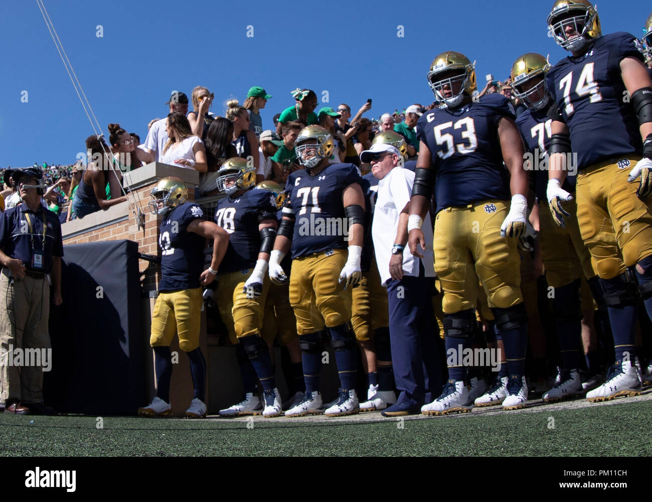 Notre Dame Football Tunnel High Resolution Stock Photography And Images Alamy